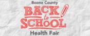 VAC - Voluntary Action Center - Back to School Health Fair - program Logo with words of Back to School health fair