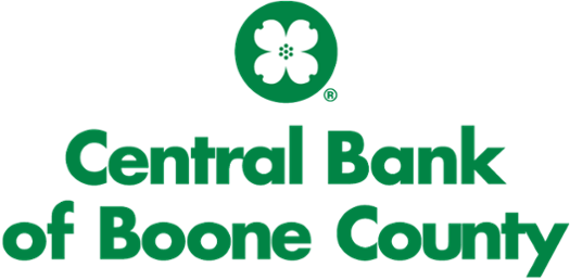 Logo for Central Bank of Boone County - circle with dogwood flower
